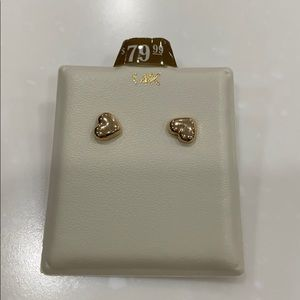 Jewelry - 14K gold heart earrings